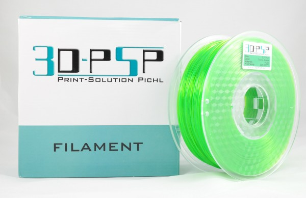 3DPSP PETG Filament - Trans. Green - 1.75mm - 1Kg