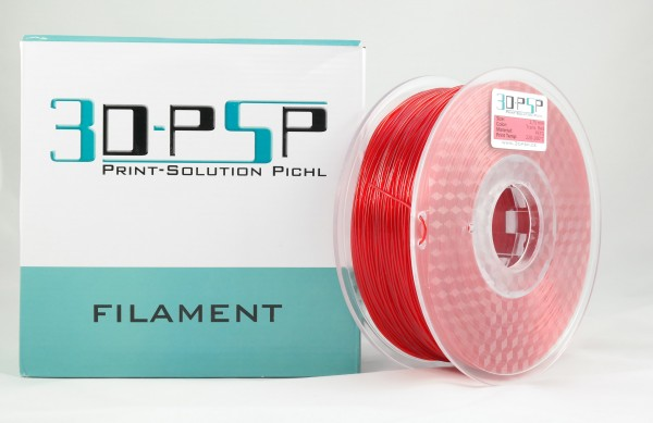 3DPSP PETG Filament - Trans. Red - 1.75mm - 1Kg