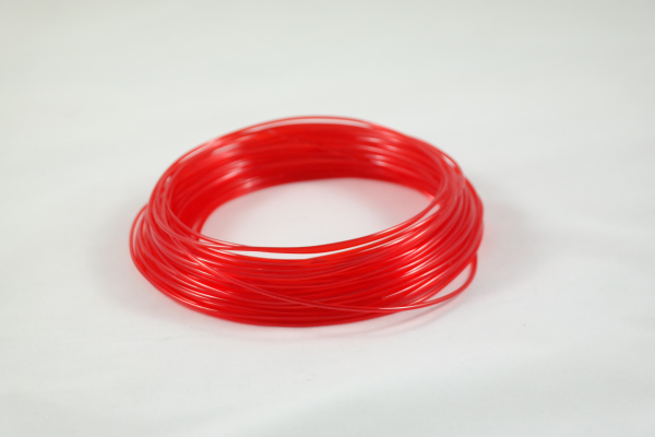 50gr 3DPSP PETG - Trans. Red - 1.75mm - Sample