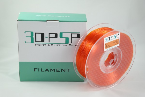 3DPSP PETG Filament - Trans Orange - 1.75mm - 1Kg