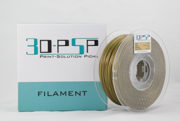 3DPSP PETG Filament - new Metallic Gold - 1.75mm - 1Kg